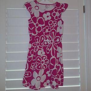 Gymboree girls Flower drawstring cotton Dress  10
